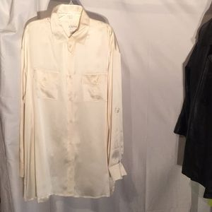 Ivory silk tunic w/ sleeve options 1x NWT